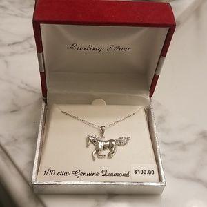 Jewelry - NWT diamond horse necklace